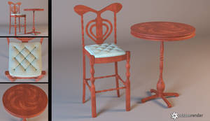Bar Stool and Table Download