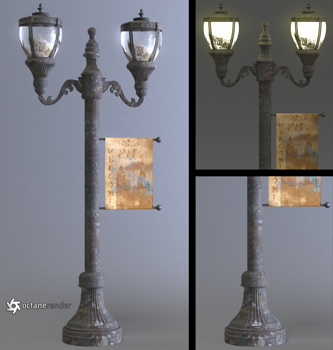 Antique Street Lamp by LuxXeon