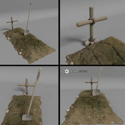 Free Dirt Grave Prop by LuxXeon
