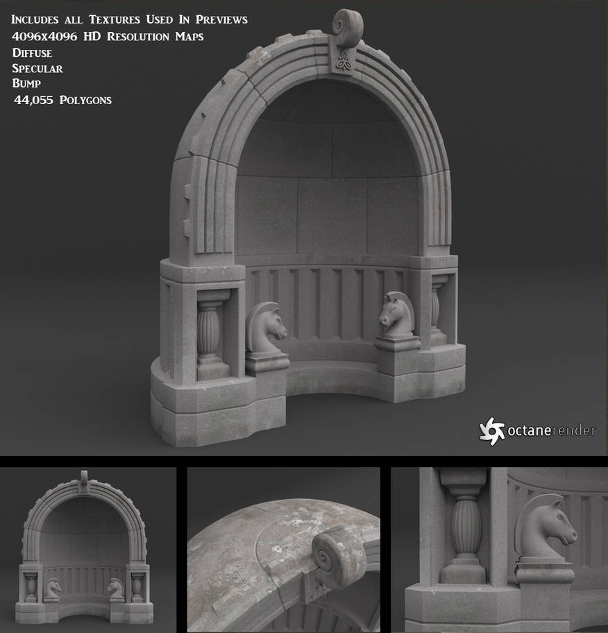 Free Stone Alcove Model by LuxXeon on DeviantArt