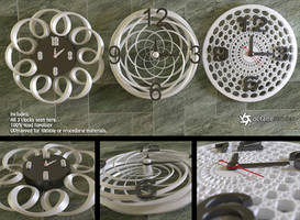 Modern Wall Clocks (free models) by LuxXeon