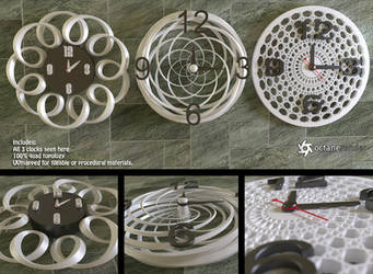Modern Wall Clocks (free models) by LuxXeon