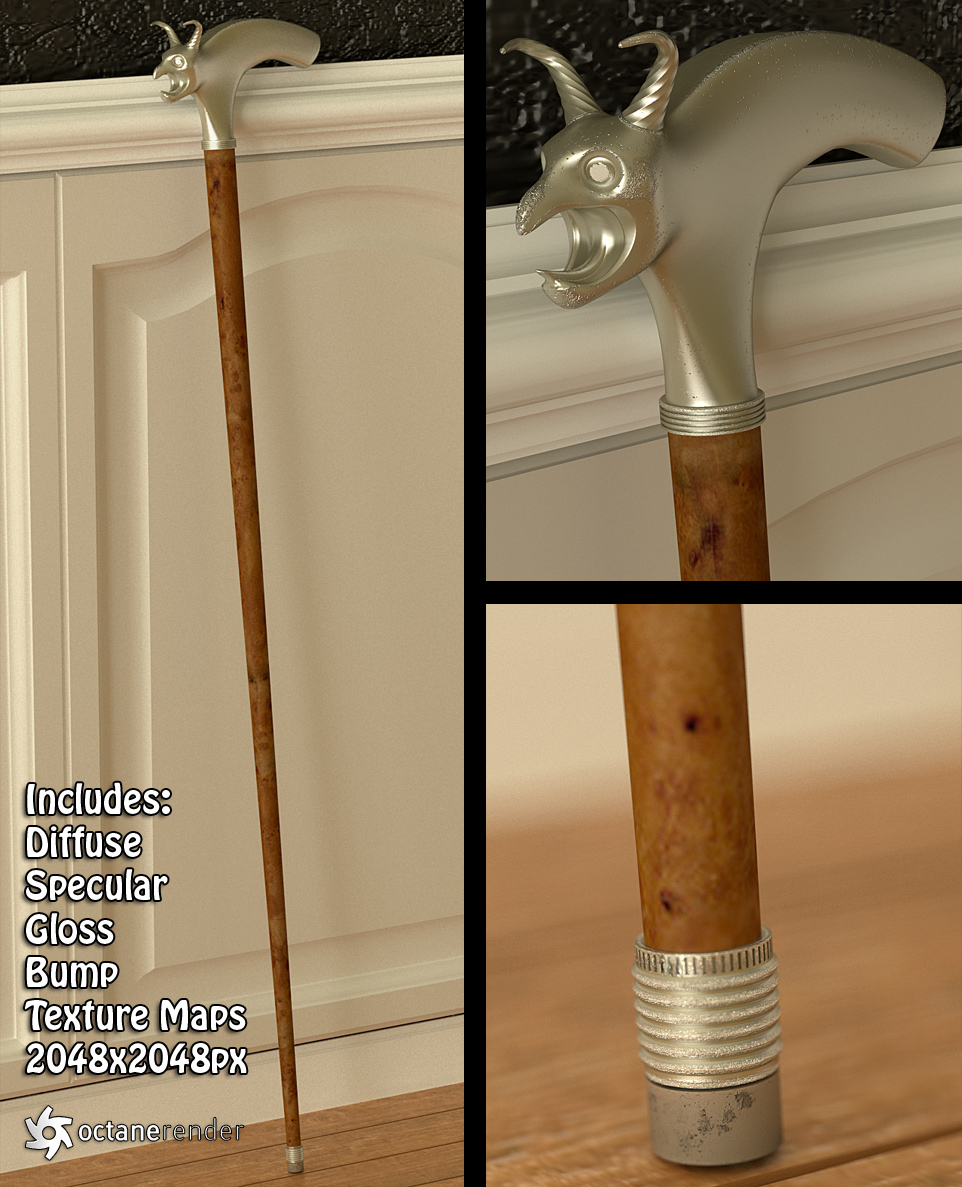 Walking Cane (free 3d model)