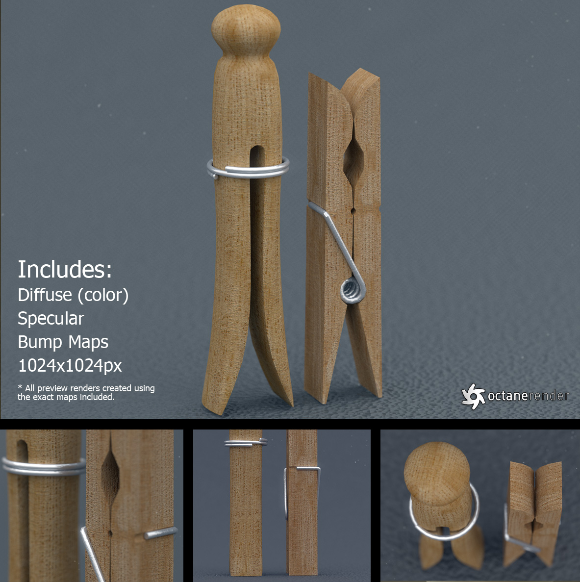 Clothespins (free 3D models) by LuxXeon on DeviantArt