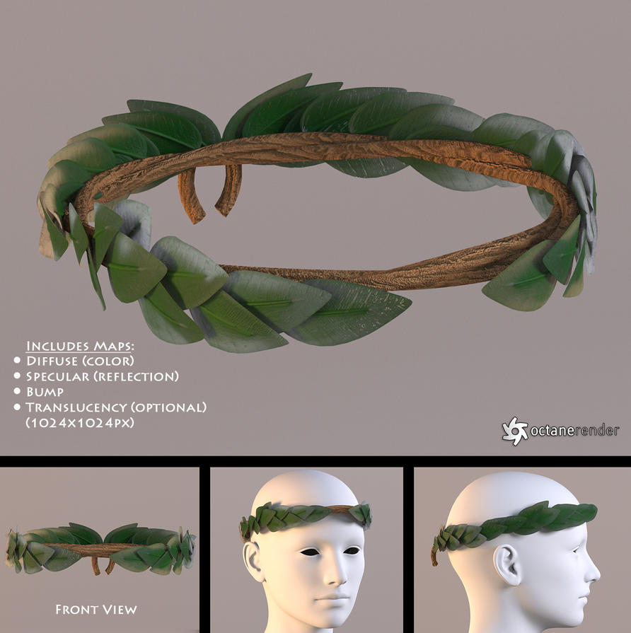 Laurel Wreath Free 3D Model By LuxXeon