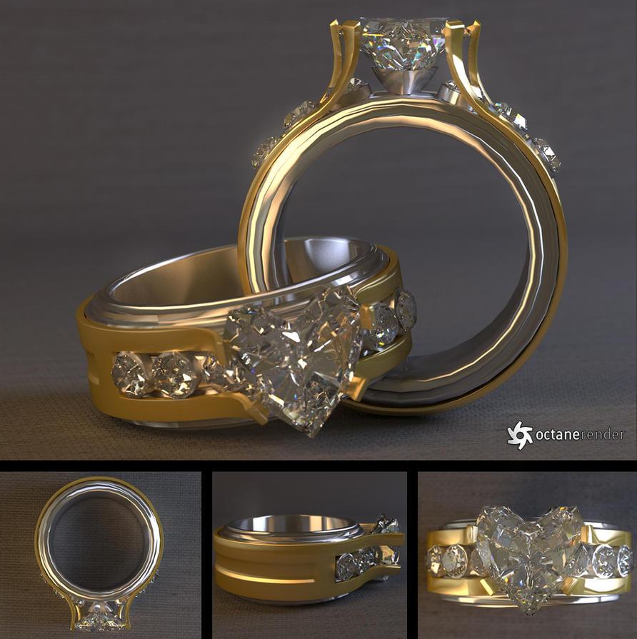 Diamond Heart Ring Free 3D Model by LuxXeon on DeviantArt