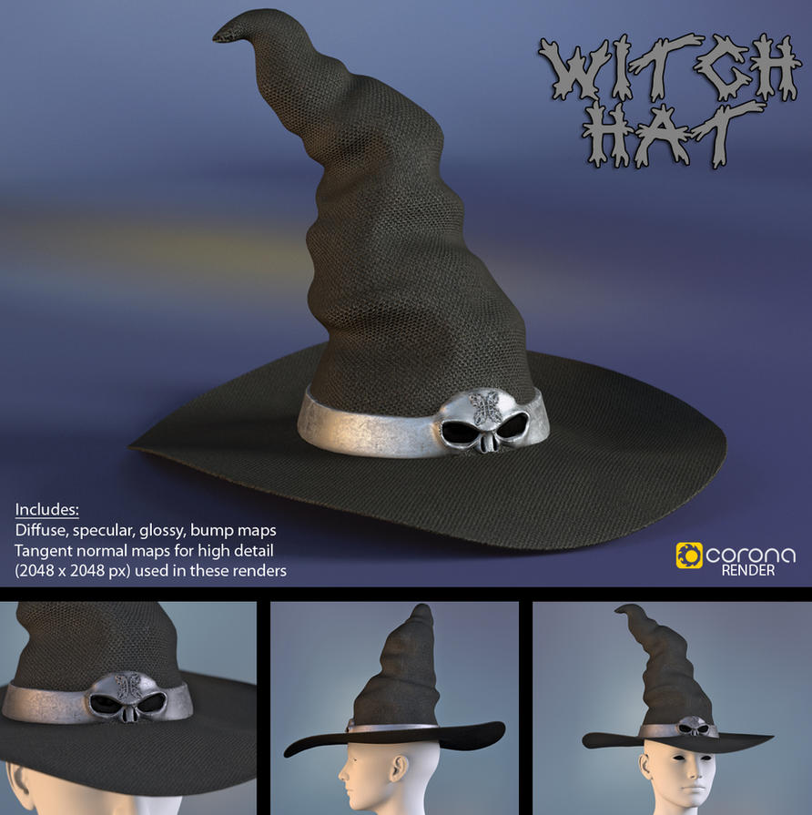 Free 3D Model: Witch Hat by LuxXeon