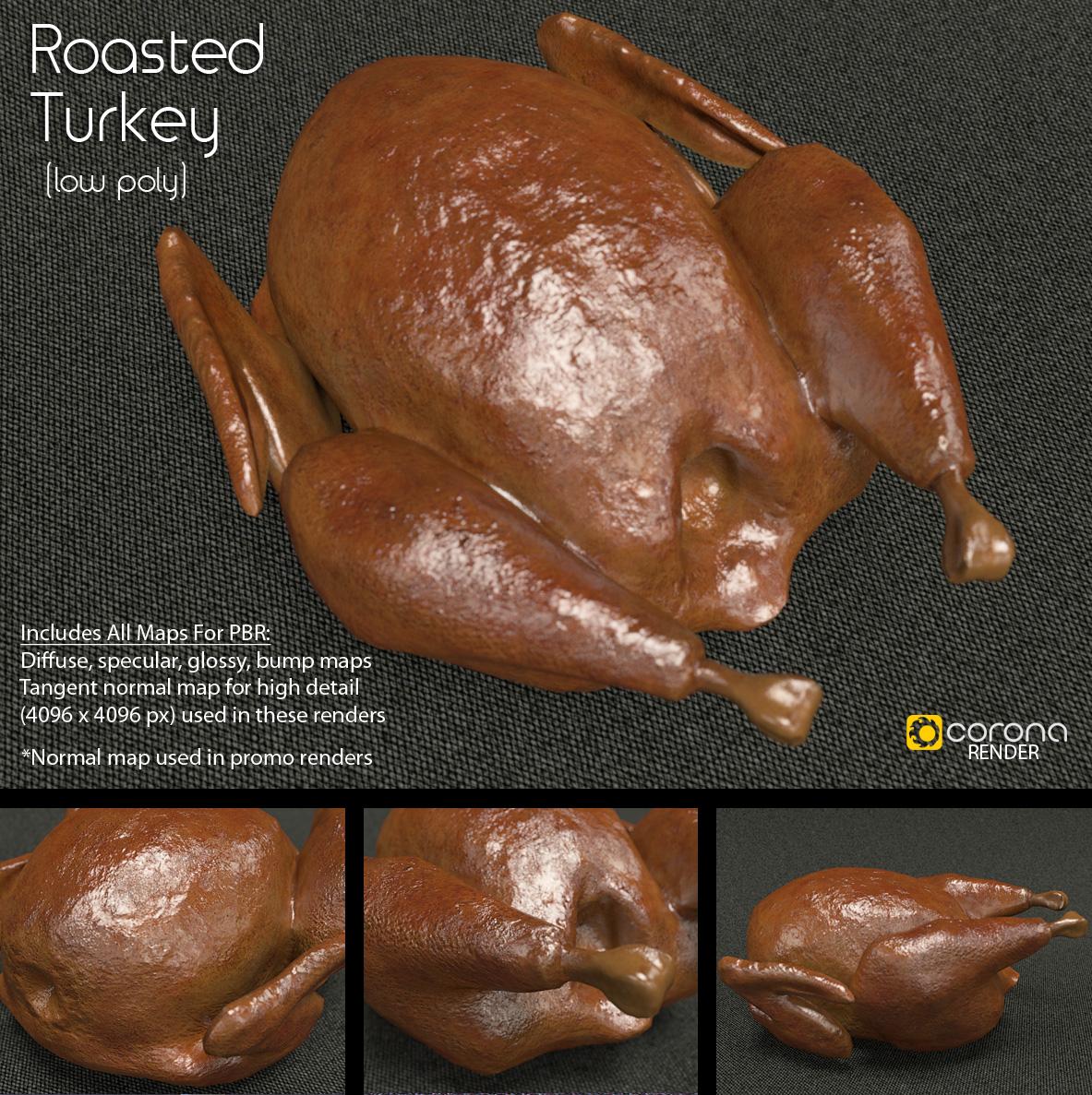 Free 3D Model: Roasted Turkey