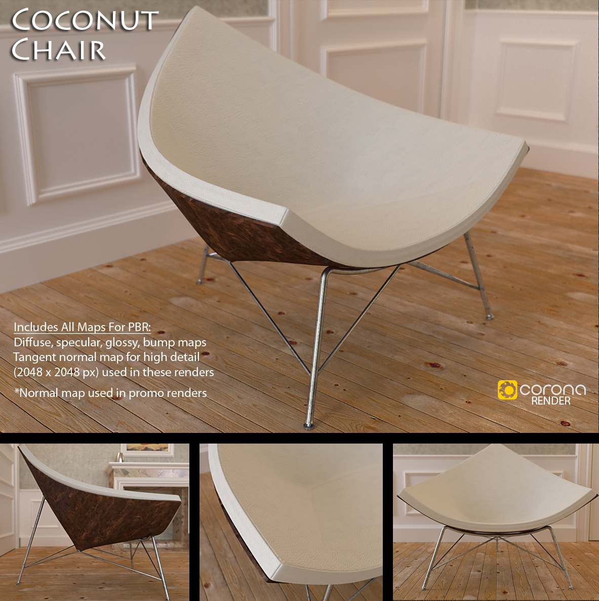 Free 3D Model: Coconut Chair by LuxXeon on DeviantArt