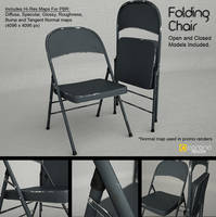 Free 3D Model: Metal Folding Chair by LuxXeon