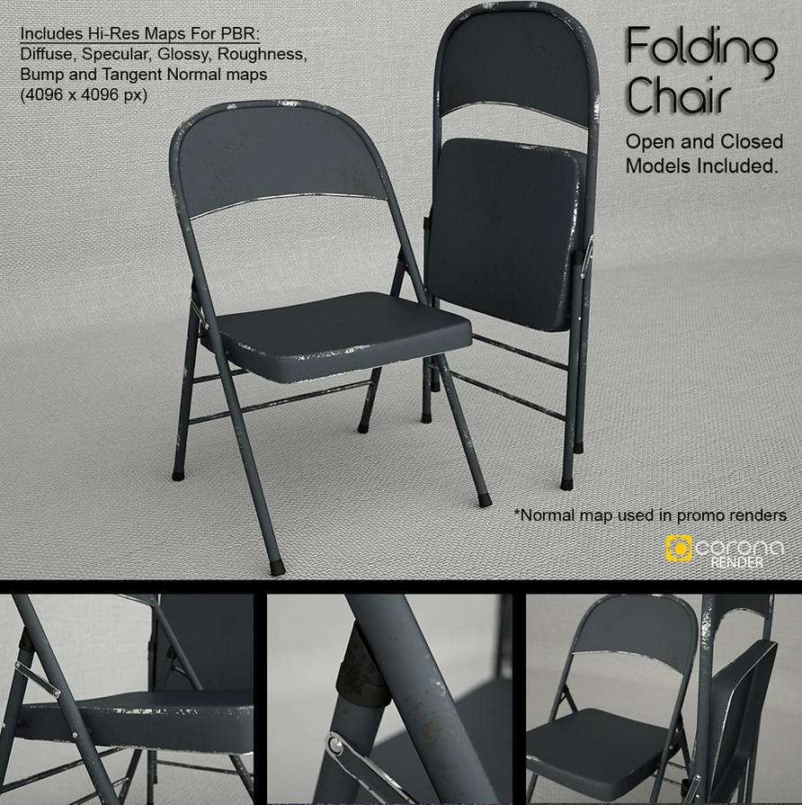 Using Folding Metal Chairs For Living Room Seating