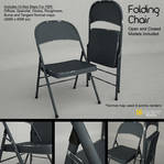 Free 3D Model: Metal Folding Chair