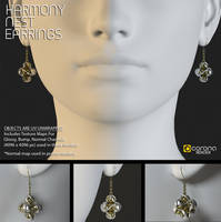 Free 3D Model: Harmony Nest Earrings by LuxXeon