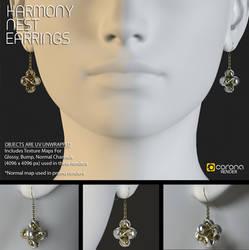 Free 3D Model: Harmony Nest Earrings by LuxXeon