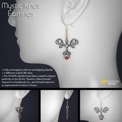 Free 3D Model: Mystic Knot Earrings by LuxXeon