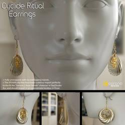 Free 3D Model: Cyclide Ritual Earrings by LuxXeon