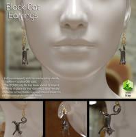 Free 3D MOdel: Black Cat Earrings by LuxXeon