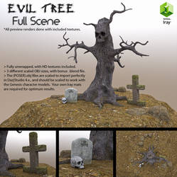 Free 3D Model: Evil Tree (Full Set)