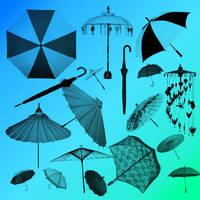 Parasol GIMP brushes