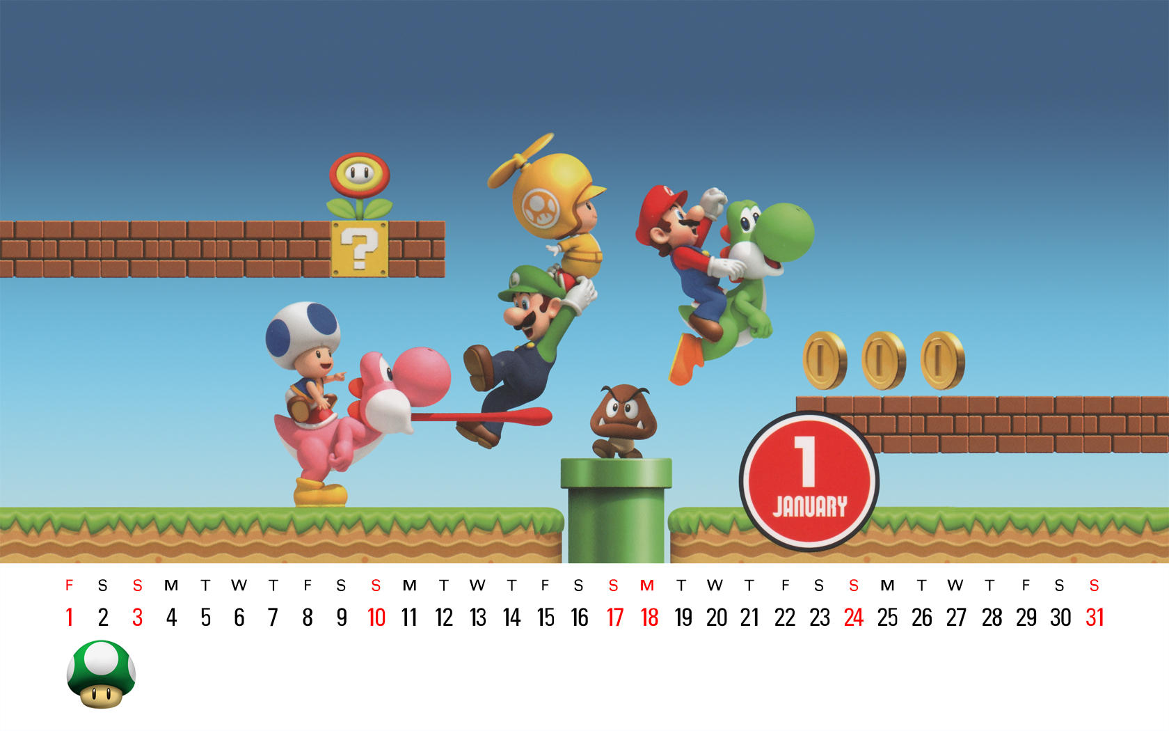 Calendar Wallpaper Nintendo : Club nintendo january by sora on deviantart