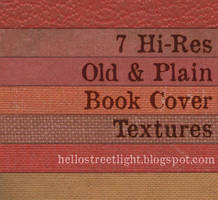7 Old and Plain Book Cover Textures by hellostreetlight