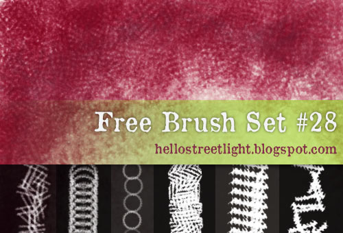 Free Brush Set 28: Crosshatching, Fabric by hellostreetlight