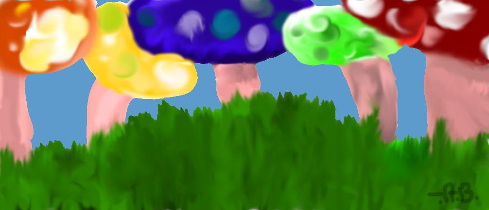 mushrooms by SketchtheArtist88