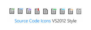 Source Code Icons - VS2012 Style