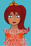 Elemental Fire Princess Makeover Game