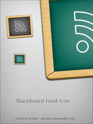 BlackBoard Feed Icon by Davinness Most Beautiful Rss Icons On The Web