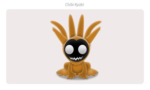 Chibi Kyuubi by Davinness
