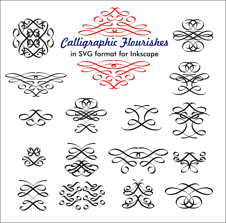 Calligraphic flourishes by billps on deviantart