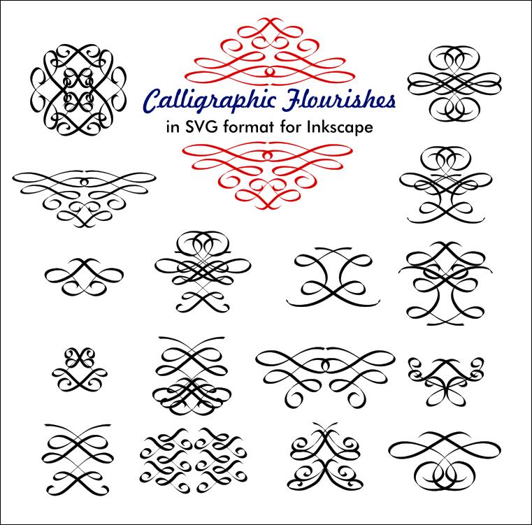 Calligraphic flourishes by billps on deviantart