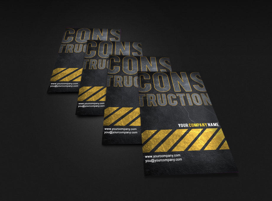 Construction Business Card By Mctart On DeviantArt - Construction business card template