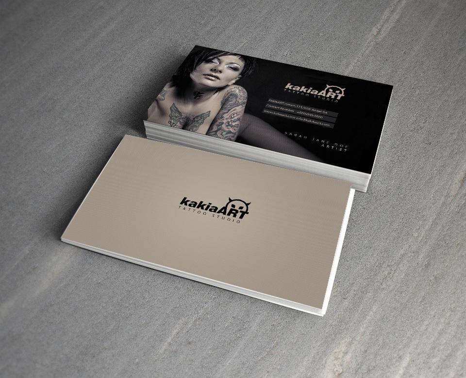 Kakia Tattoo Studio free PSD Business Card by mct2art