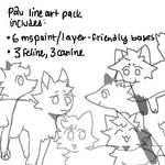 p2u line art pack
