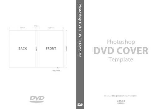 DVD Cover Template for Photoshop