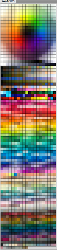My messy Colour Palette lol - Color Swatch for PS by Feohria