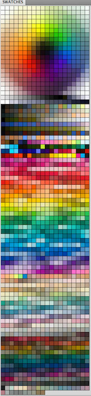My messy Colour Palette lol - Color Swatch for PS
