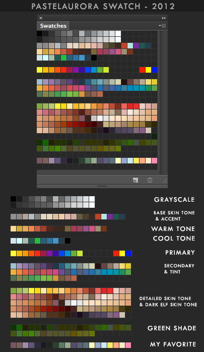My Colour Swatch by Pearlpencil