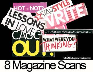 8 Magazine Text scans. by kfnxbabi