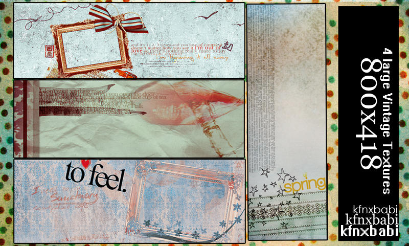 Vintage Textures by kfnxbabi