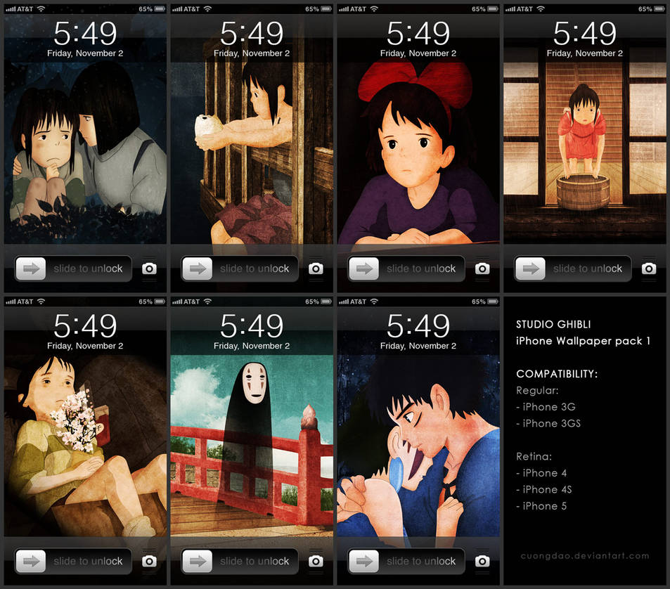 Studio Ghibli Iphone Wallpaper Pack 1 By Cuongdao On Deviantart
