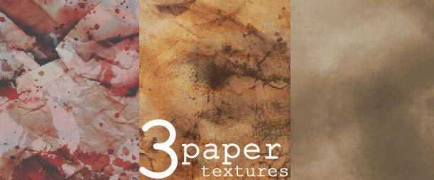 3 Paper textures by solemnlyswear22