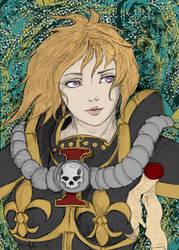 40k Sister of Battle portrait Colored by Jsaldivar