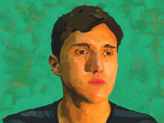 Progression video of a portrait. by Jsaldivar
