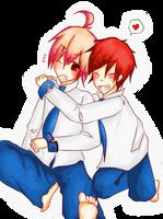 Best friends, right? by Pinocchio-kun