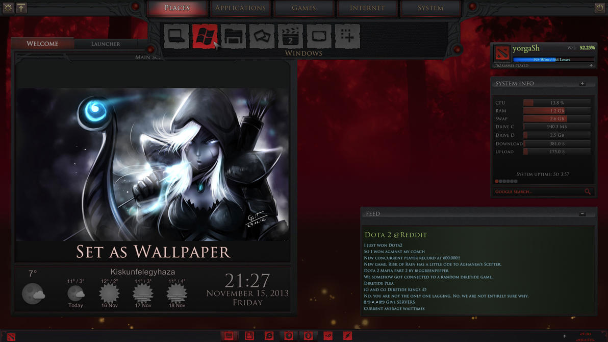 Dota2 Game Menu 2.1 by yorgash