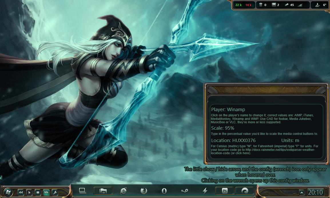 League of Legends Game Rainmeter 1.0.0 by yorgash