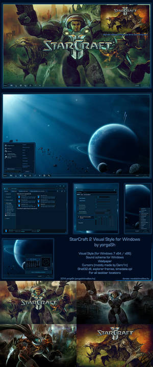 Starcraft 2 Windows Theme